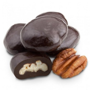 Dark Chocolate Amaretto Pecans